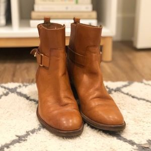 JCrew Leather Ankle Boots